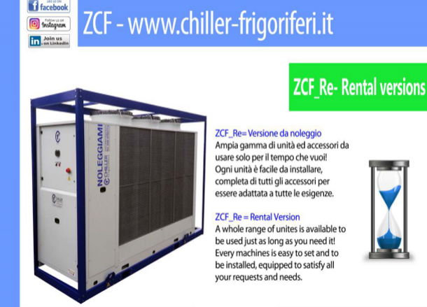 CHILLERS FOR RENT - CF Chiller
